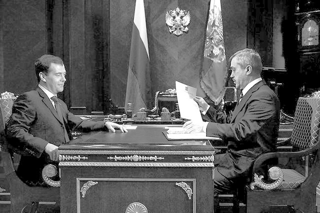 Рабочая встреча президента и губернатора